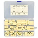 Electronics-Salon Plastic Round Spacer Assortment Kit. OD 11mm, ID 5.2mm, L 5 to 25mm, for M5 Screws. Length 5mm 8mm 10mm 12mm 15mm 18mm 20mm 25mm, Plastic ABS Standoff.