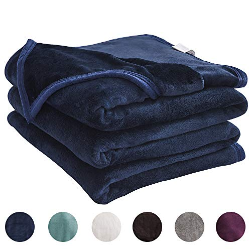 - LIANLAM Fleece Blanket Lightweight Super Soft and Warm Fuzzy Plush Cozy Luxury Bed Blankets Microfiber (Royal Blue, Twin(65