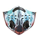 Baiyu Cycling Anti-dust pm2.5 Half Face Mask with Filter Bike Bicycle Active Carbon Anti-haze Windproof Cold-proof Breathable Mask for Motorcycle Ski Racing Outdoor Sports--Printing 3