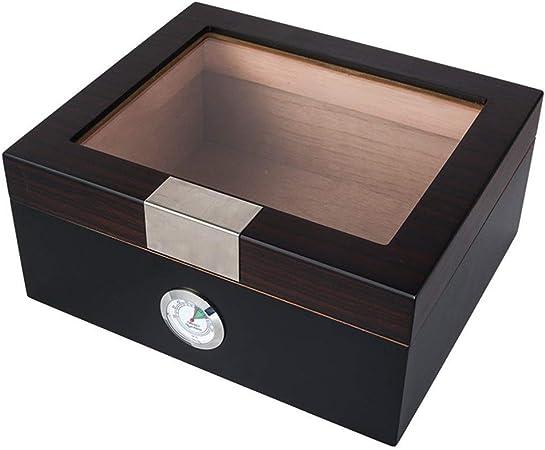 NBHUYT De Alto Brillo de Madera de Madera Caja de cigarros humidor Mini Piano con Pantalla Caso de Cigarrillos de Moda Caja de cigarros de Windows Humidors: Amazon.es: Hogar
