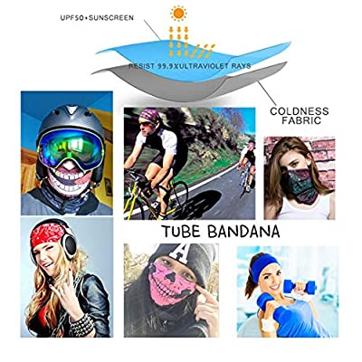 DianDianwl Men Women Sunscreen Breathable Face Mask Soft Magic Tube Bandana Scarf Neck Shield Gaiter Fishing Cycling Running Headband-A-2Pcs: Toys & Games