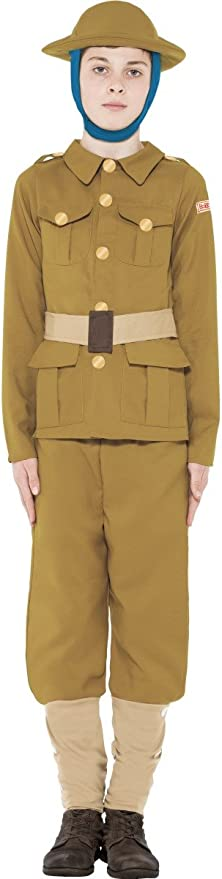 Victorian Kids Costumes & Shoes- Girls, Boys, Baby, Toddler Smiffys Officially Licensed Horrible Histories WWI Boy Costume £13.98 AT vintagedancer.com