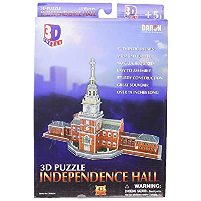Daron Independence Hall Philadelphia 3D Puzzle 43-Piece: Toys & Games