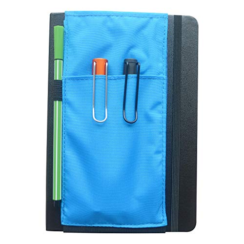 SIWENGDE A5 Large Squared Journal Grid Notebook Chequered Graph 160pages Ink-Proof 100gsm with Pen Loop (1black Notebook+1blue Pouch)