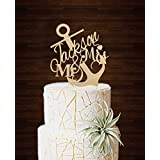 Mr and Mrs Cake Topper Rustic Anchor Wedding Cake Toppers Personalized Name