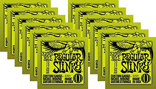 - Ernie Ball 2221 Nickel Slinky Lime Guitar Strings - Buy 10, Get 2 Free