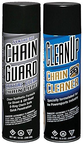 (Maxima Racing Oils MA-BCC-GUARD Synthetic Chain Guard Basic Care Aerosol Combo Kit, 29 fl. oz)
