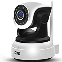 D3D Full HD CCTV 2MP (1920x1080) p WiFi Wireless IP Home Security Camera CCTV (Supports Upto 128 GB SD Card) [Model-8809] White Camera (White)