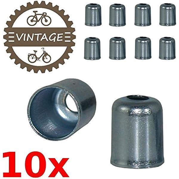 100x Housing End Caps Bike Ferrule Ferrules.Brake Cable Metal Coppe Bicycle