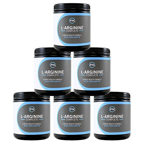 Fenix Nutrition - FNX L-Arginine Complete - Cardio Health Formula - Contains L-Citrulline - Enhance Effects Of Nitric Oxide - Secret Weapon For Libido - Mixed Berry - 6 Jars by Fenix Nutrition
