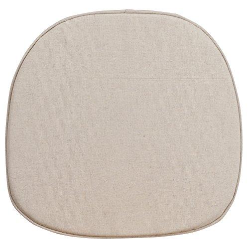 Flash Furniture Cross Back Barstool Burlap Cushion Cross Back Fabric Seat
