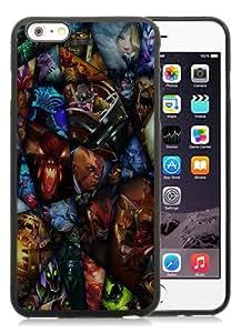 High Quality iPhone 6S Plus TPU Skin Case ,DOTA 2 Heroes Black iPhone 6S Plus Screen Cover Case Popular And Unique Custom Designed Phone Case