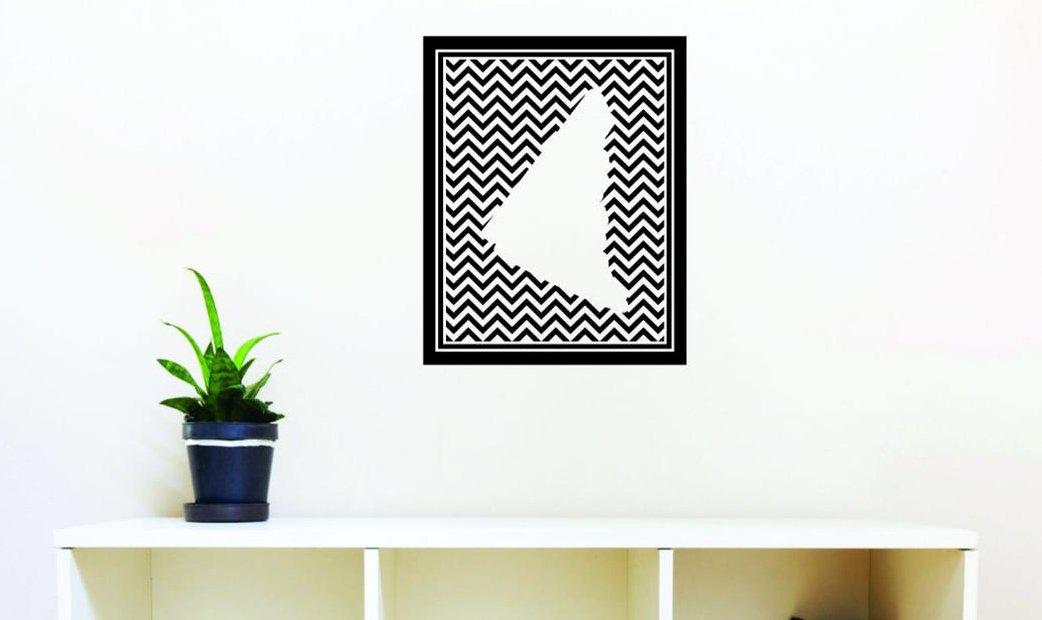 30 x 50 Design with Vinyl Moti 1310 3 Yukon Canadian Providence Map Peel /& Stick Wall Decal