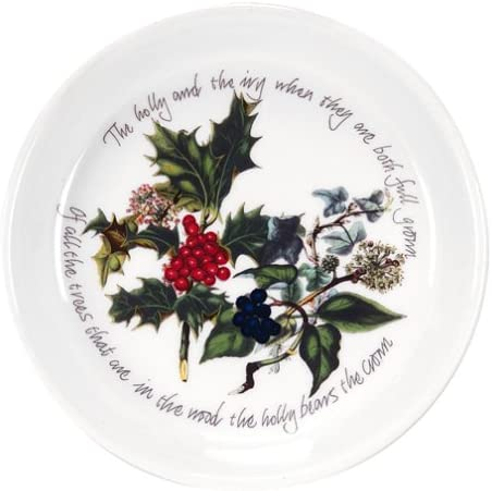 PORTMEIRION THE HOLLY AND THE IVY HOLLY SHAPE DISH