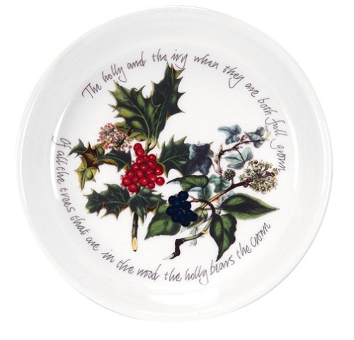 Portmeirion Holly and Ivy Coasters/Sweet Dishes, Set of 2 ()