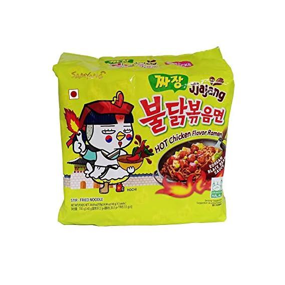 Samyang Hot Chicken Ramen Jjajang Noodles, 5 X 140 g