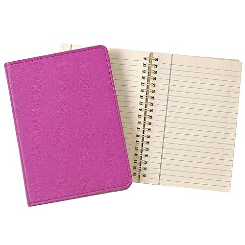 Wire-O-Notebook 7in Orchid Fine Leather by Graphic Image™ - 5x7 by Graphic Image (Image #1)