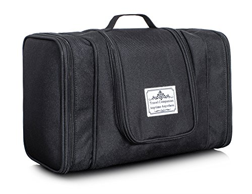 Ultralight Water-Repellent Cosmetic Bag Toiletry Bag Multi-Use Travel Organizer Bag by TOPERIN (Black)