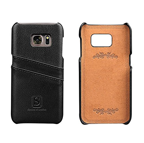 Samsung Galaxy S7 Luxury Leather Case with Slots for ID/Bank Cards | Ultra Slim Fit Cases by Simons of London in Pouch and Gift Box