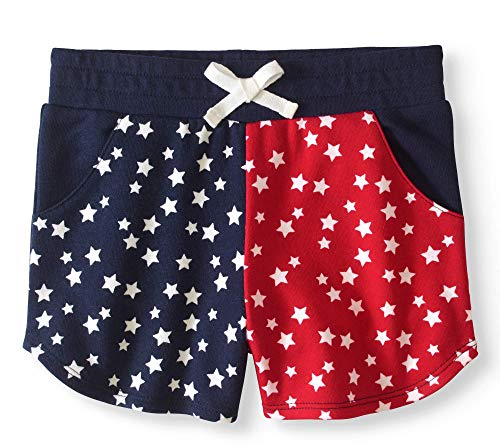 Assorted Baby Girl 4th of July Graphic Top Shirt (5T, French Terry Shorts)