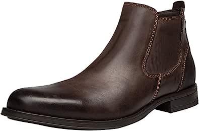 ANUFER Hombres Genial Retro Piel Genuina Botines Chelsea Zapatos de Vestir