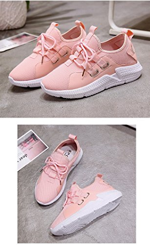 Pink Gym Shoes Jogging Running Evedaily Trainers Sport Sneakers Womens Lightweight qfWzwZT