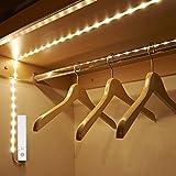 Amagle LED Dual Mode Motion Night Light, Flexible LED Strip with Motion Sensor Closet Light for Bedroom Cabinet 3000K (Warm White,2 pack)