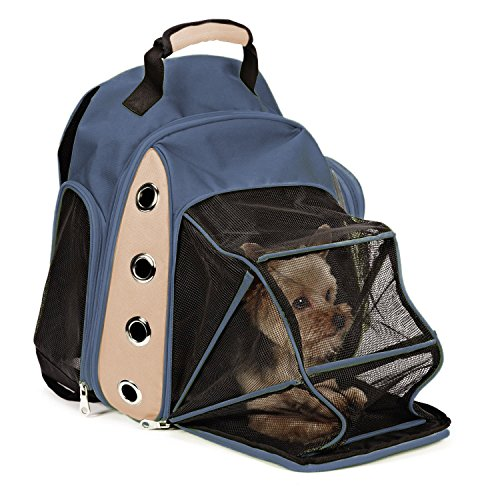 Multiple Deluxe Dog Carrier Mesh Travel Backpack Double Shoulders Straps Bag for Small Pet Puppy Cat Dark (Chihuahua Travel Carrier)