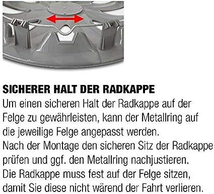 Eight Tec Handelsagentur Radkappen Radblenden DRF BUNDEL schwarz 15 Zoll universell passend vom Radkappen-K/önig
