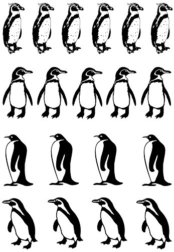 Fusible Decal - Penguin Black 17CC773 Fused Glass Decals