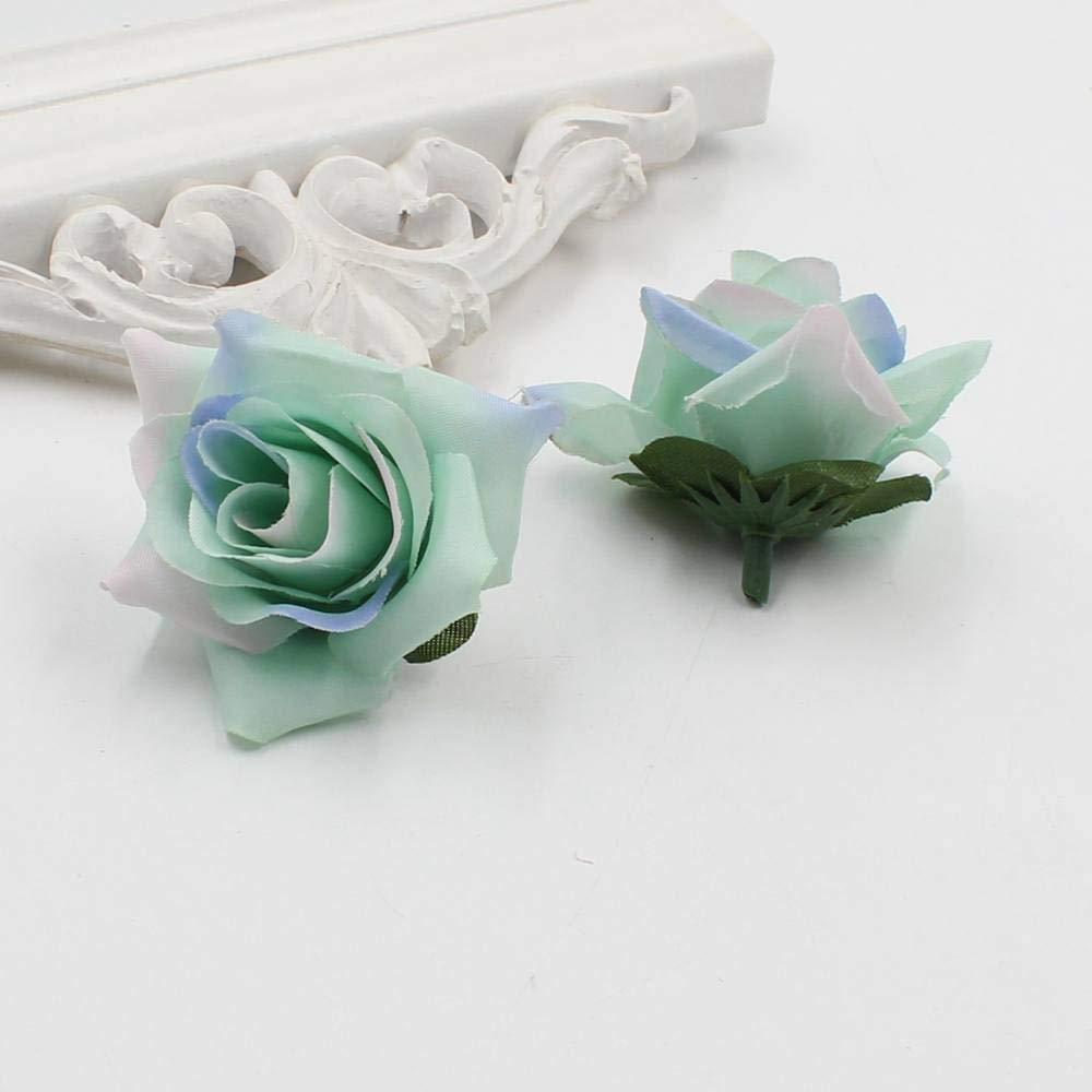 造花 造花 10個入り ビンテージ マルチカラー ウェディングパーティー ホームデコレーション 造花 B07H6K7WPZ 13