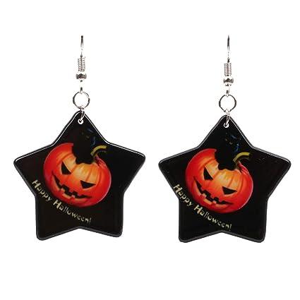 MoGist - Pendientes de Calabaza para Halloween, diseño de Halloween ...