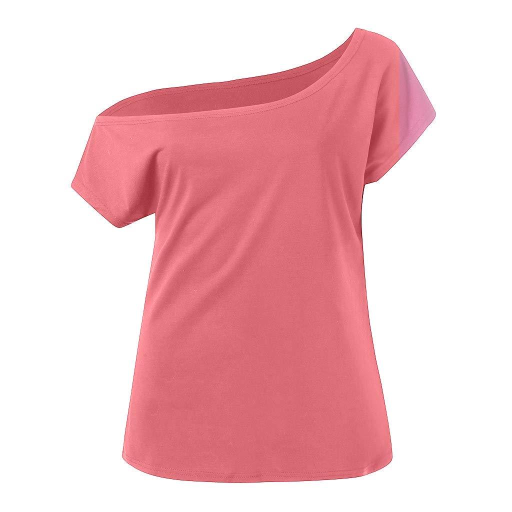 Casual Short Sleeve T Shirts Lose Tank Tops Sumeimiya Womens Off Shoulder Tops