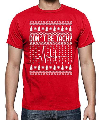 42ecb832e4d Don't Be Tachy Merry Ugly Christmas Nurse Funny Party Xmas Gift Idea Men's  Shirt