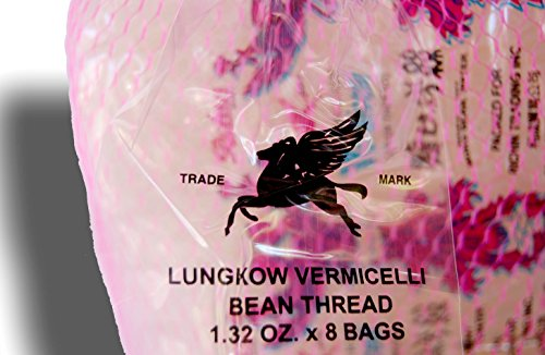 Lungkow Vermicelli Bean Thread Glass Noodles 8 ct 10.56 oz/300gm: Non GMO Product of Taiwan