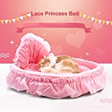 Joycentre Lovely Cute Pet Lace Princess Bed Fashion Non-Slip Puppy Sofa with Removable Cushion