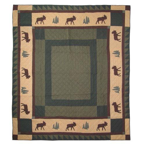 Patch Magic Cedar Trail Twin Quilt, 85-Inch by 65-Inch