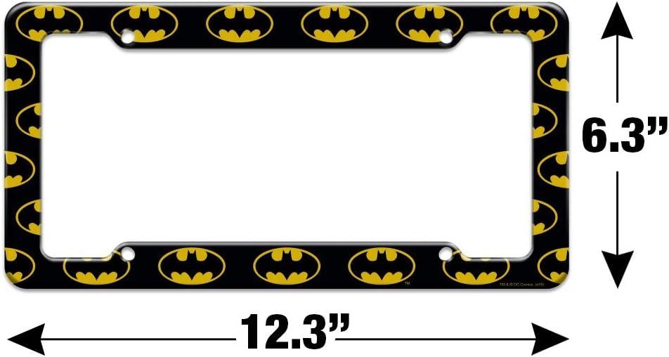 Graphics and More Batman Classic Bat Shield Logo License Plate Tag Frame