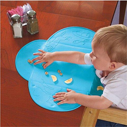 42x 29cm bluesnail Wasserdicht Silikon Tisch-Sets Baby Tisch Diner Matte Pad für Kinder Baby Futtermatte