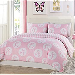 Ballerina Ballet Slippers Girls Twin Comforter & Sham Set (2 Piece Bedding) + HOMEMADE WAX MELTS