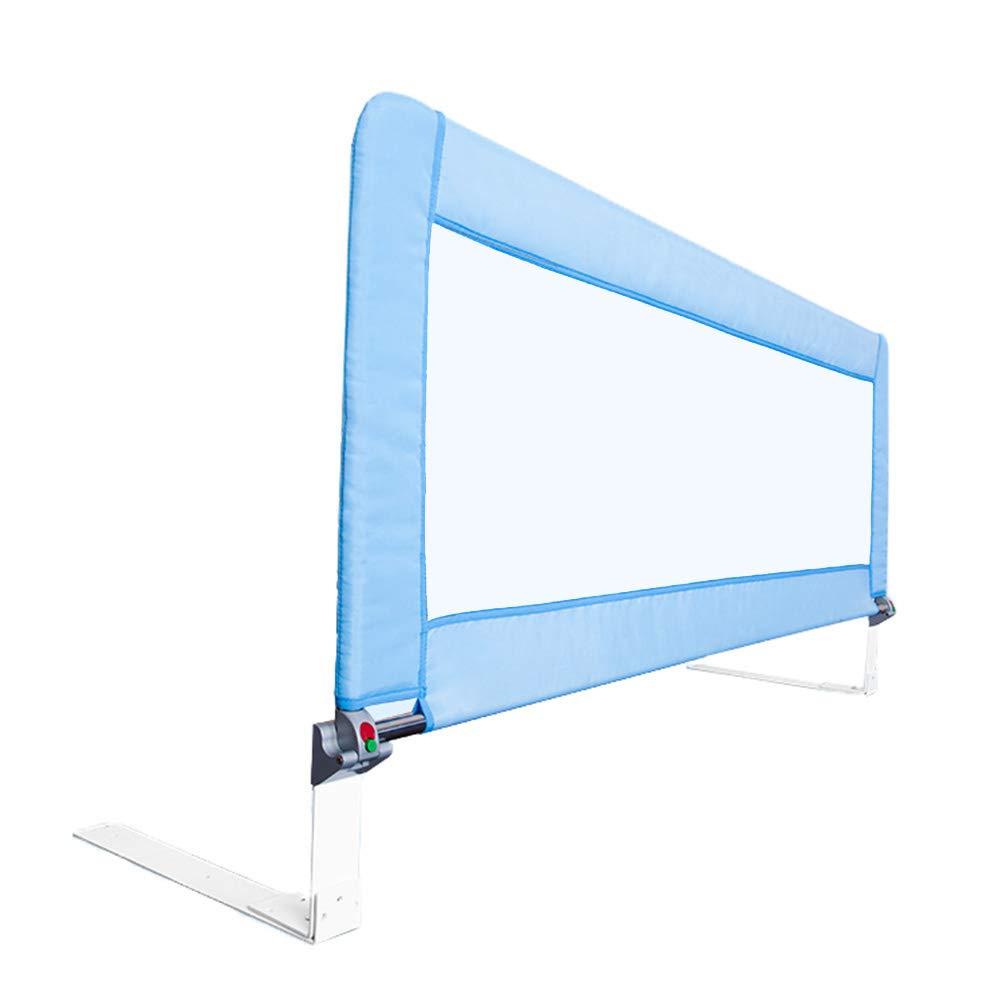 ベッドフェンス- ベビーベッドガード/レール余分な長さ2m、シングルベビーベッドレールは、幼児、クイーン&キングサイズベッド、71cmの高さに適合 (色 : 青)  青 B07JGVMF3J