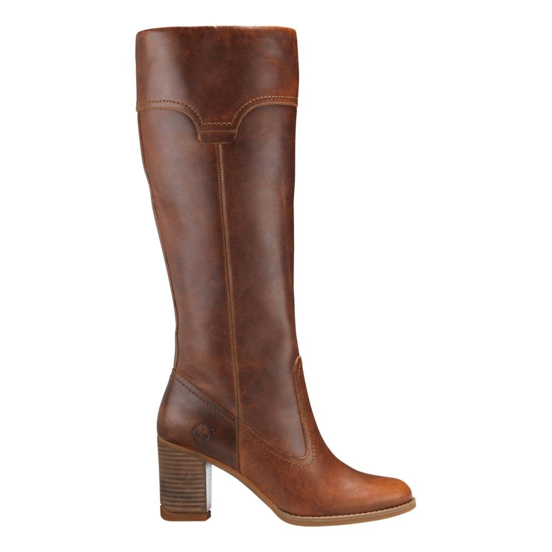 Amazon.com   Timberland Women's Atlantic Heights Pull-On Tall Boot Medium  Brown 7 B US   Knee-High