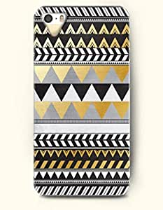 OOFIT Aztec Indian Chevron Zigzag Pattern Hard Case for Apple iPhone 4 4S ( Classic Native American Indian Aztec Pattern )