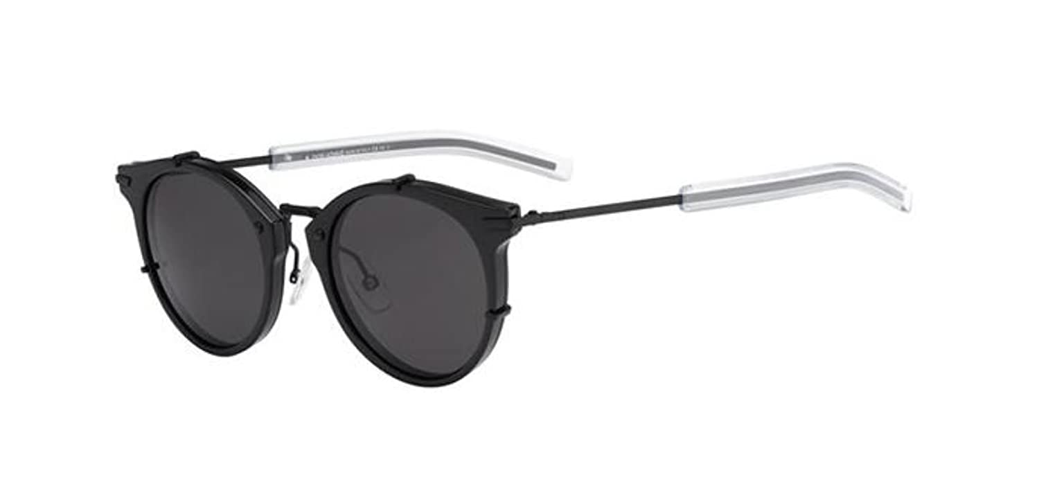 2744e619997f Amazon.com  New Christian Dior Homme 0196 S GVB Y1 Matte Black Sunglasses   Clothing