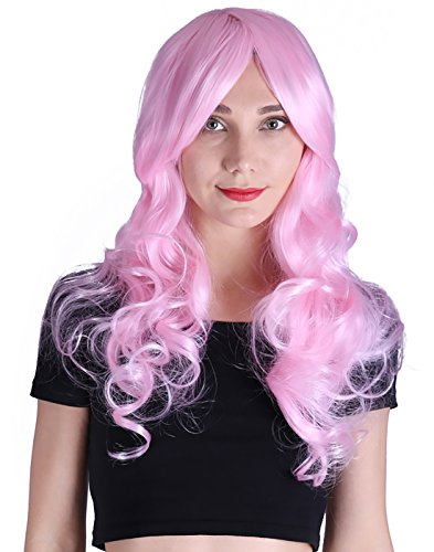HDE Women's Long Wavy Wig 24 inch Curly Glamour Hair for Halloween Cosplay Costumes (Halloween Costumes Adults Pinterest)