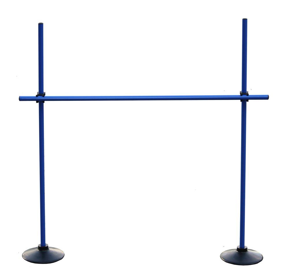 Boje Sport Sprungstangen-Set VG120bc blau 3 Stangen, 2 Vollgummi-Standf/ü/ße, 2 Clips Farbe