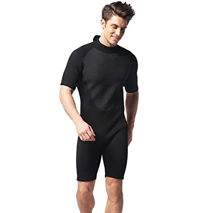 c0d578ca7b 3mm One Piece Sun Protection Marine Shorty Wetsuit Swimwear for Diving  Surfing Snorkeling Swimming Men Women