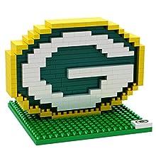 FOCO NFL Green Bay Packers Mini BRXLZ Logo Building Blocks, One Size, Green