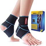 This ankle brace specially designed to provide comfortable support for weak or injured ankles, helps improve blood circulation, prevent ankle sprain, strain, re-injury and relieves weak, sore ankles. It is also beneficial to reduce the recovery peri...