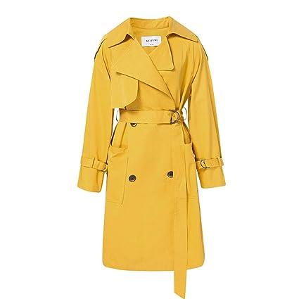 086e5fd4b7b78 Trench Coat Women's Long Trench Coat Lapel Jacket Spring Thin Jacket ...